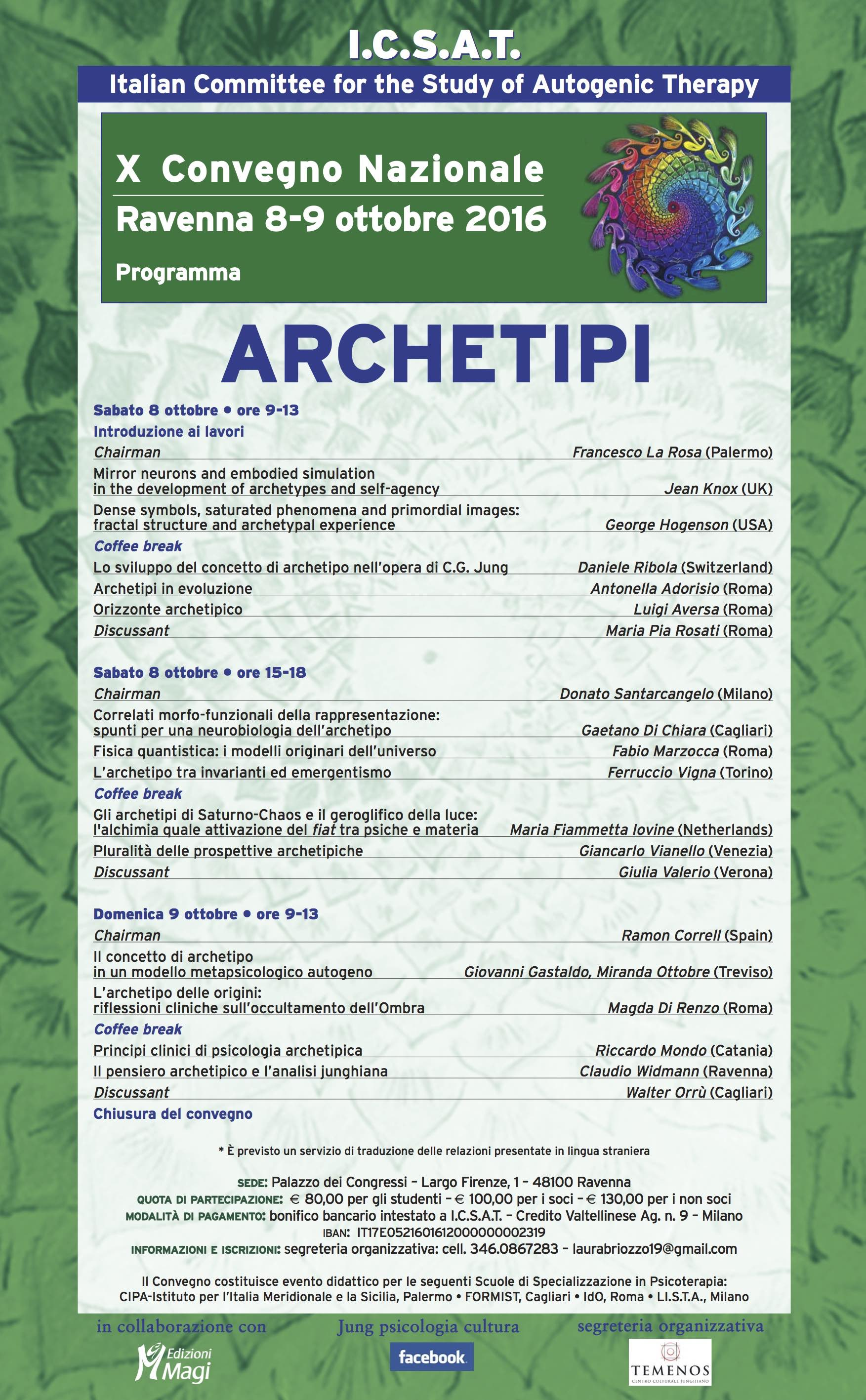 Archetipi. X Convegno nazionale ICSAT