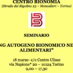 "18.03.17 Torino: ""Il training autogeno bionomico nei disturbi alimentari"""