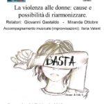 04.02.18, La violenza alle donne: cause e possibilità di riarmonizzare
